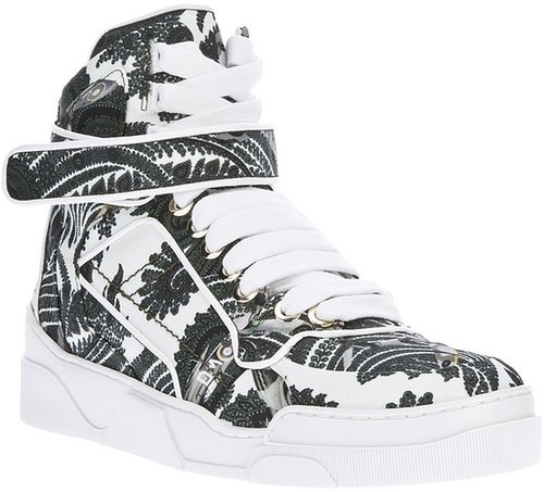 Givenchy paisley and fighter plane print hi-top