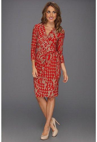 Nine West - Light Weight Matte Jersey Dress (Sand Castle Combo) - Apparel