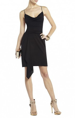 BCBG LOTTIE DRAPED DRESS