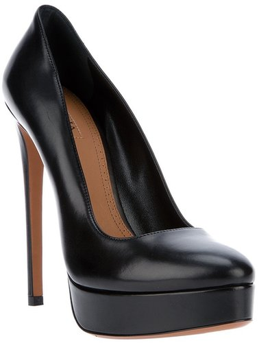Alaïa leather stiletto platform shoe