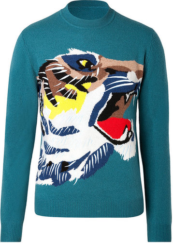 Kenzo Wool Intarsia Knit Tiger Pullover