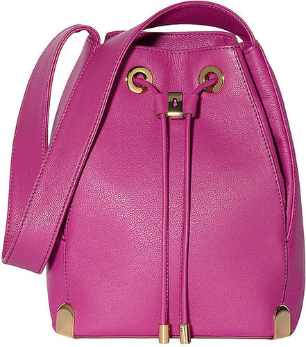 VINCE CAMUTO Janet Leather Drawstring Tote Bag