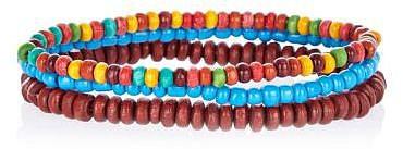 Multicoloured bead bracelet pack