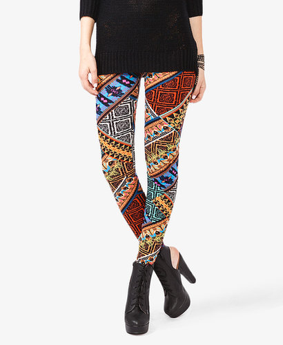 FOREVER 21 Tribal Inspired Leggings