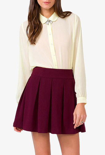 FOREVER 21 Sheer Peter Pan Collar Shirt