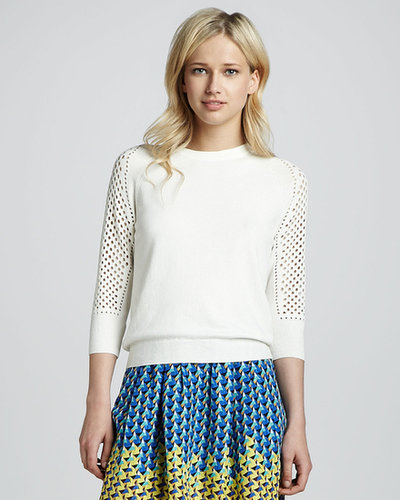 MARC by Marc Jacobs Cienaga Needlepunch-Sleeve Sweater