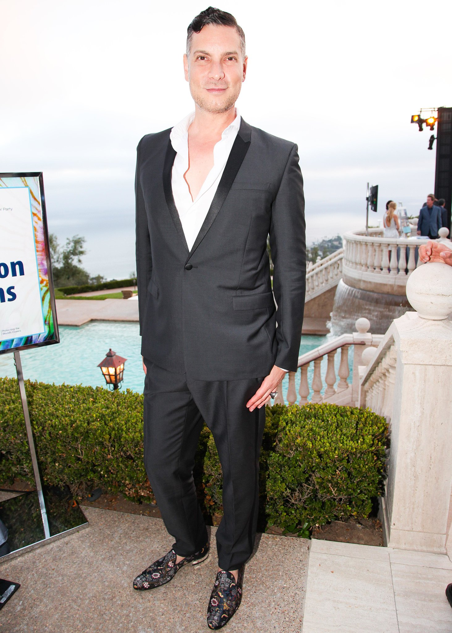 Cameron Silver stepped out in botanical loafers for a good cause at the Oceana Annual SeaChange Summer Party.