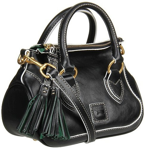 Dooney & Bourke - Florentine Edge Mini Savannah Satchel (Black) - Bags and Luggage
