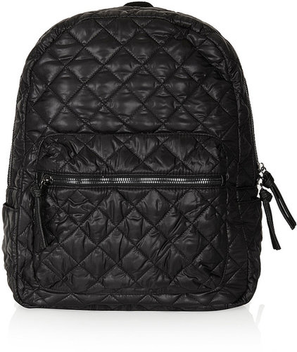 Nylon Quilted Backpack