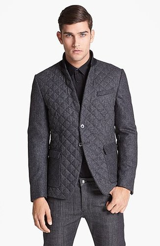 Paul Smith London Quilted Herringbone Wool Blazer 44