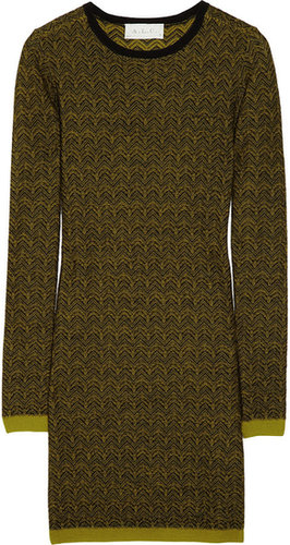 A.L.C. Clea wool jacquard sweater dress