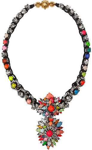 Shourouk Cora Zambia Swarovski crystal necklace