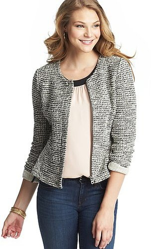 Knit Tweed Peplum Jacket