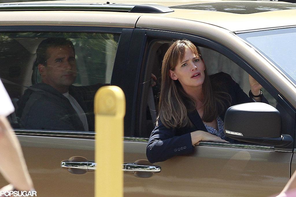 Funny Face! Jennifer Garner and Steve Carell Get Animated on Set