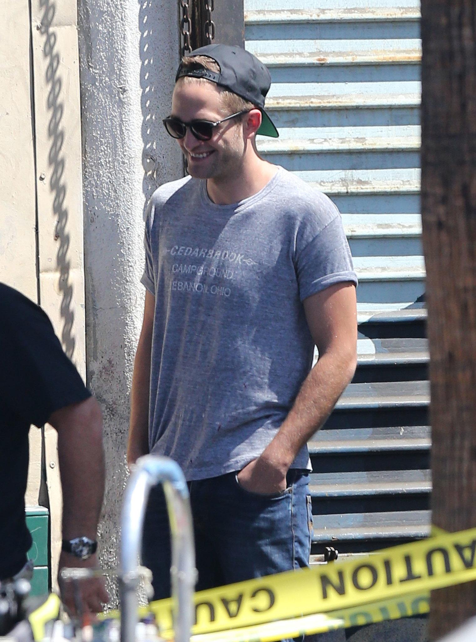 Robert Pattinson had a laugh on set.