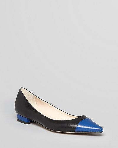 L.K.Bennett Cap Toe Pointed Toe Flats - Holly