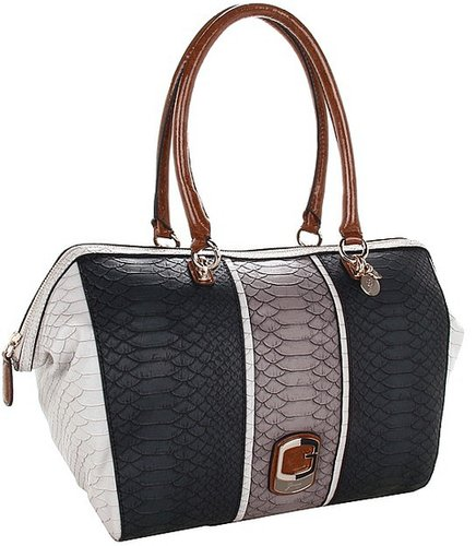GUESS - Tisbury E/W Satchel (Black Multi) - Bags and Luggage