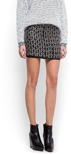 Metal beads mini-skirt