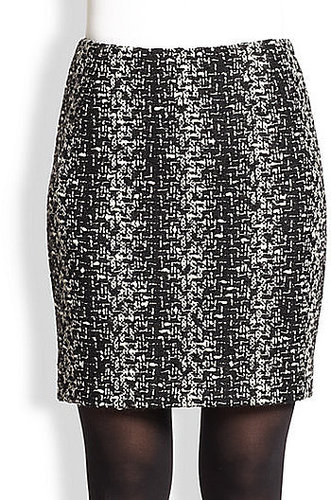 Akris Punto Wool Tweed Mini Skirt
