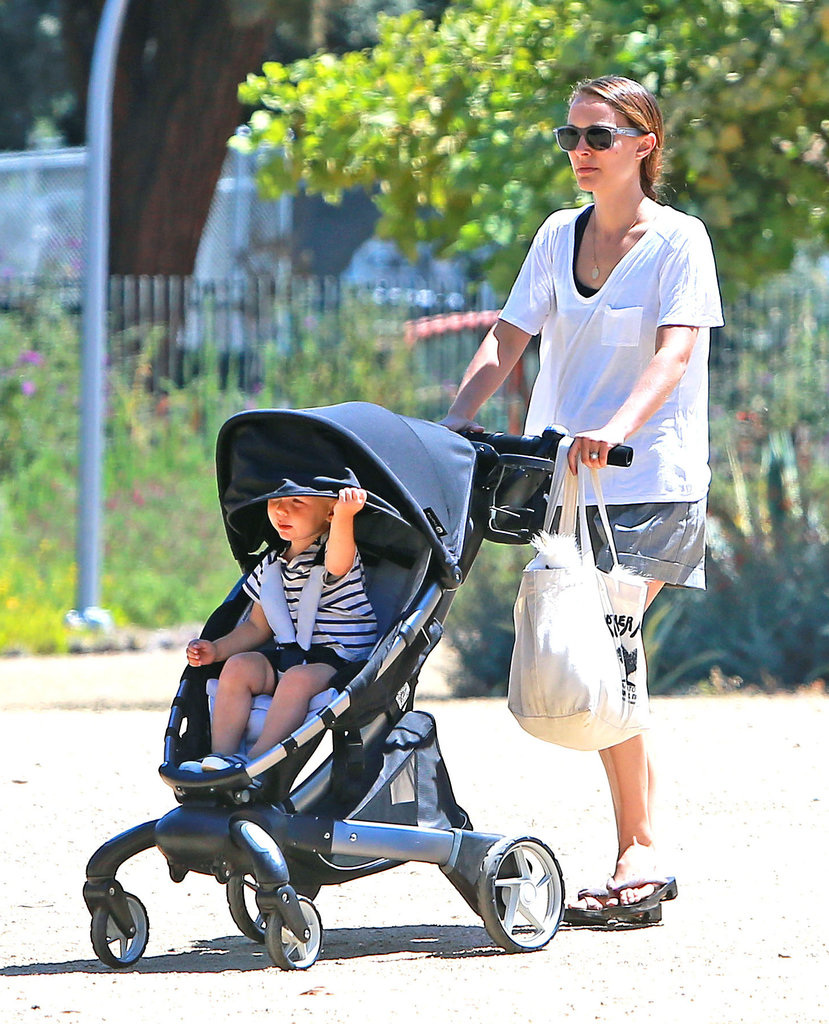 Natalie Portman and her son, Aleph Millepied, spent an afternoon at the Natural History Museum in LA.