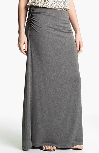 Caslon Convertible Maxi Skirt Medium Heather Grey Large
