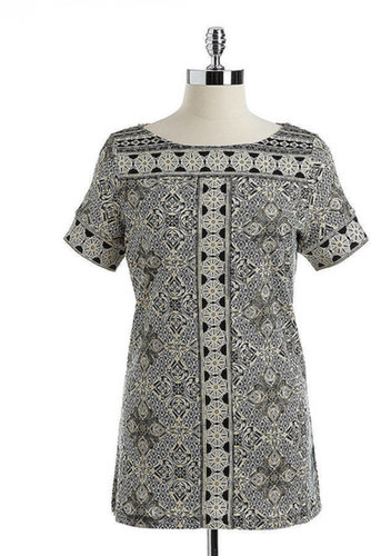 RAFAELLA Printed Cotton Tunic Top