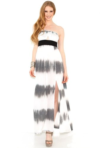 Gypsy Junkies Gypsy Junkies Talulah Strapless Maxi Dress in Black Tie Dye