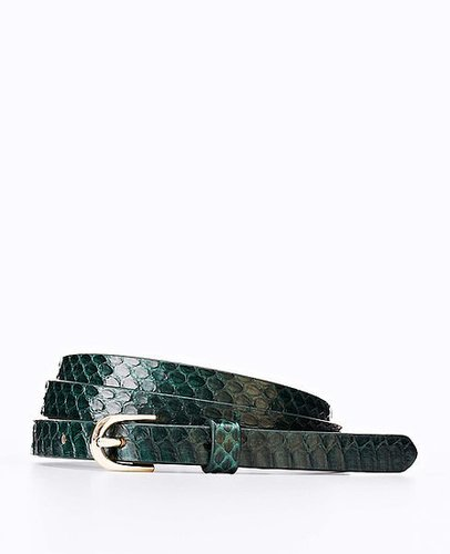 Perfect Exotic Leather Skinny Belt