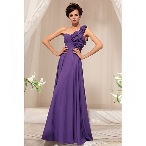 Purple prom Satin dress