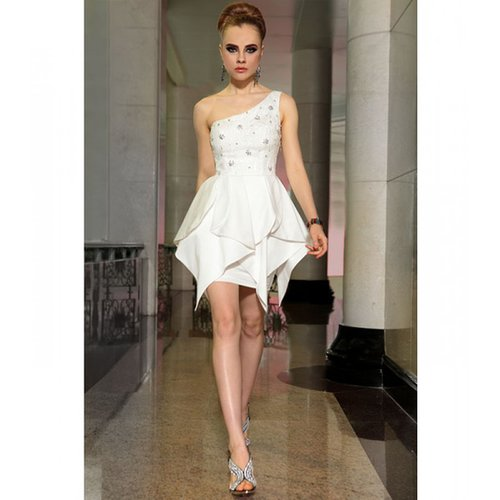 White satin Dress short