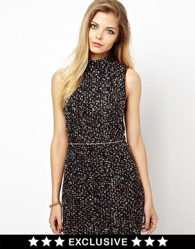 Lashes Of London Shift Dress In Boucle