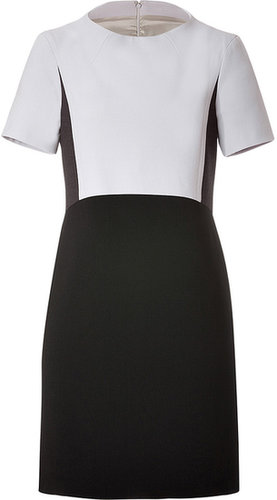 Jil Sander Navy Wool Blend Dress in Black/Grey