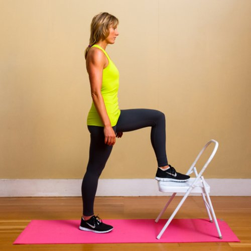 Cardio and Toning Workout Using a Chair