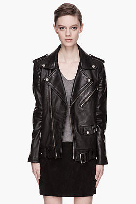 BLK DNM Black leather quilted Boyfriend Biker Jacket