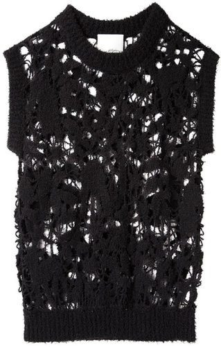 3.1 Phillip Lim / Open Knit Embroidered Pullover