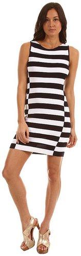 Theory - Lasina Dress (True Navy/White) - Apparel