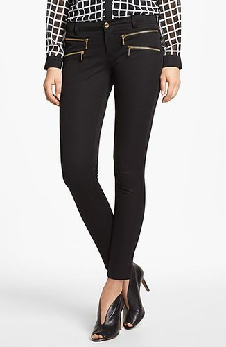 MICHAEL Michael Kors 'Rocker' Stretch Twill Skinny Pants Womens Black Size 4 4