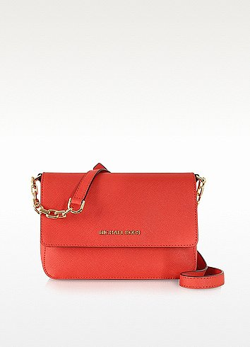 Michael Kors Selma Saffiano Leather Flap Crossbody Bag