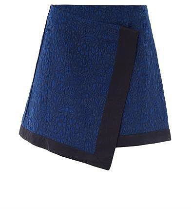 Elizabeth And James Jacquard cotton skirt