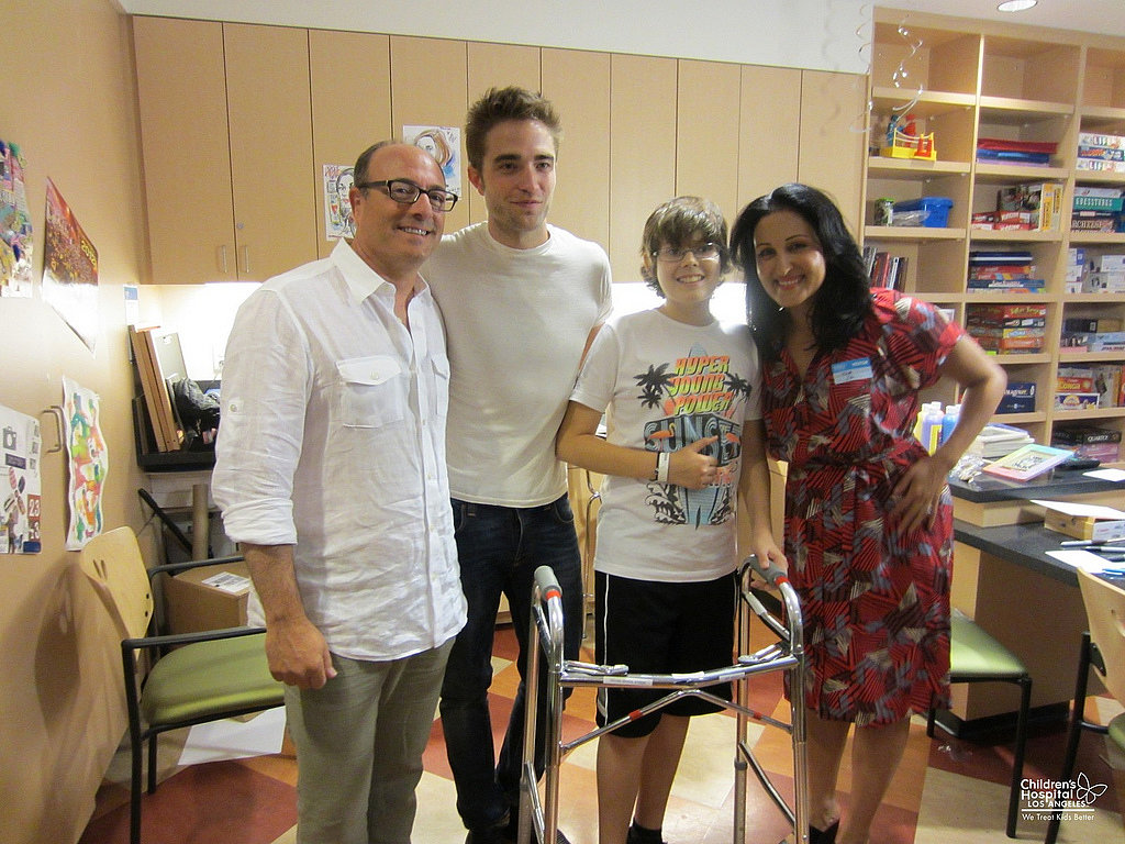 Robert Pattinson snapped pictures with fans during his children's hospital visit in LA. Source: Flickr user Children's Hospital Los Angeles