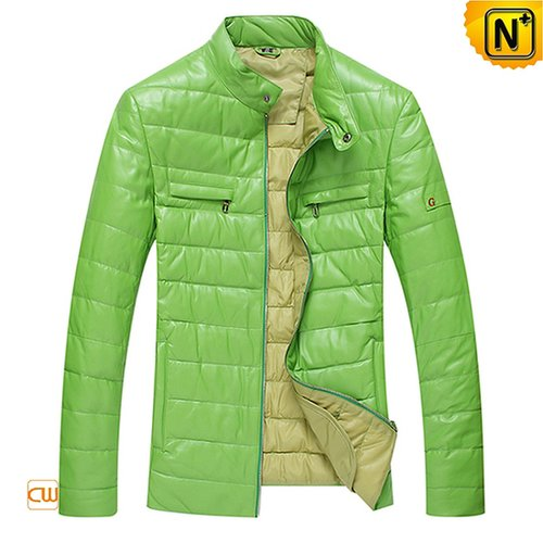 Genuine Leather Down Jacket for Men CW804055