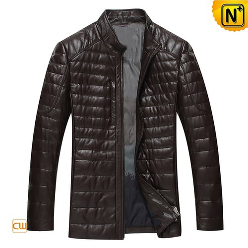 Leather Down Fill Jacket for Men CW804035
