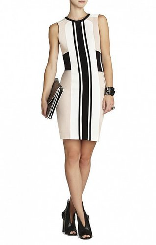 BCBG ELOISE COLOR-BLOCKED SHEATH DRESS
