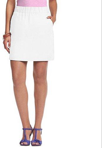 Elastic Waist Linen Skirt