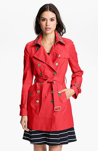 Sam Edelman Embellished Collar Trench Coat Medium