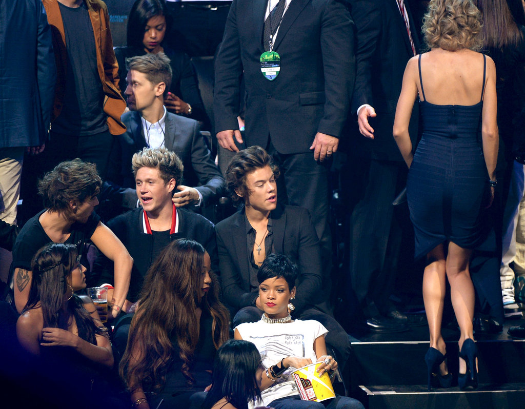Taylor Swift passed by her ex, One Direction's Harry Styles.