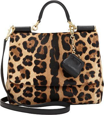 Dolce & Gabbana Small Calf Hair Miss Sicily Bag