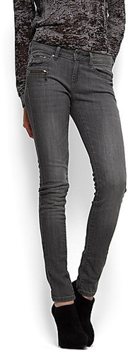 Super slim zipper jeans