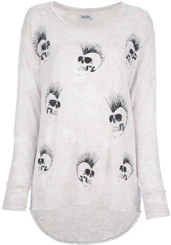 Lauren Moshi 'Bayle' skull print t-shirt