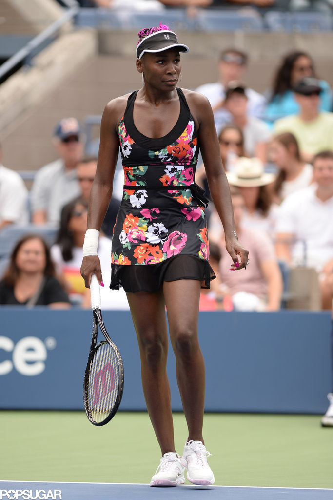 Venus Williams hit the court.